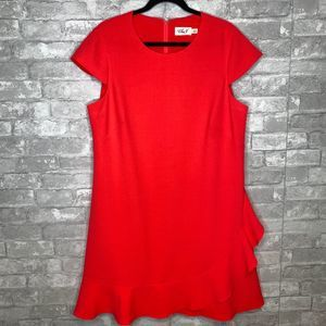 Eliza J Cap Sleeve Ruffle Dress Size 14W